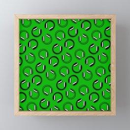 Headphones-Green Framed Mini Art Print