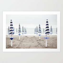 Amalfi Beach Umbrellas Art Print