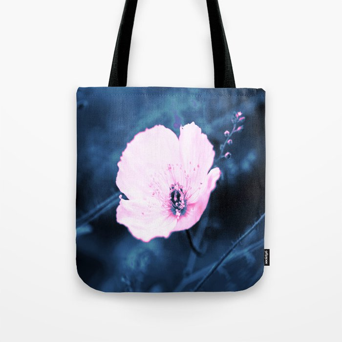 Pink Flower On A Dark Blue Background #decor #society6 Tote Bag