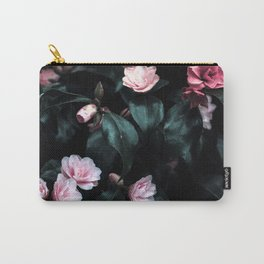 Dark Floral Carry-All Pouch