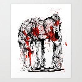 Deer Drip Art Print