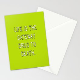 life and death quote Stationery Cards