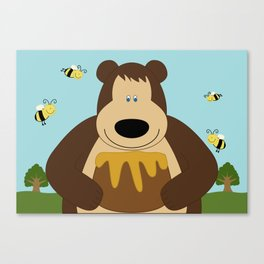 I ♥ honey Canvas Print