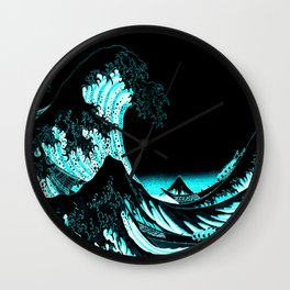 The Great Wave : Dark Teal Wall Clock