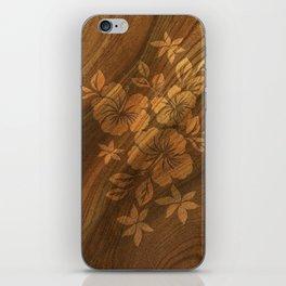 Lilikoi Hibiscus Hawaiian Textural Pareau Design iPhone Skin
