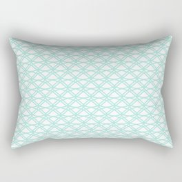 SPEARMINT pale mint green art deco pattern on white background Rectangular Pillow