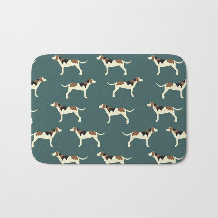 Tree Walker Coonhounds in Green Bath Mat