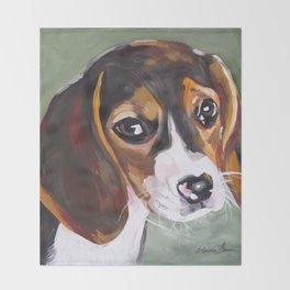 Beagle Pet Art Throw Blanket