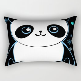 Pandacorn in the Darkness and the Snow Rectangular Pillow