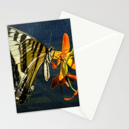 Swallowtail on the Crocosmia with Texture Stationery Cards