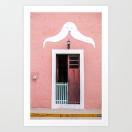 Pink House in Mexico Art Print