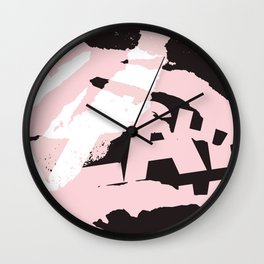 vintage newspapper / black & white Wall Clock