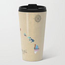 Hawaii state map  Travel Mug