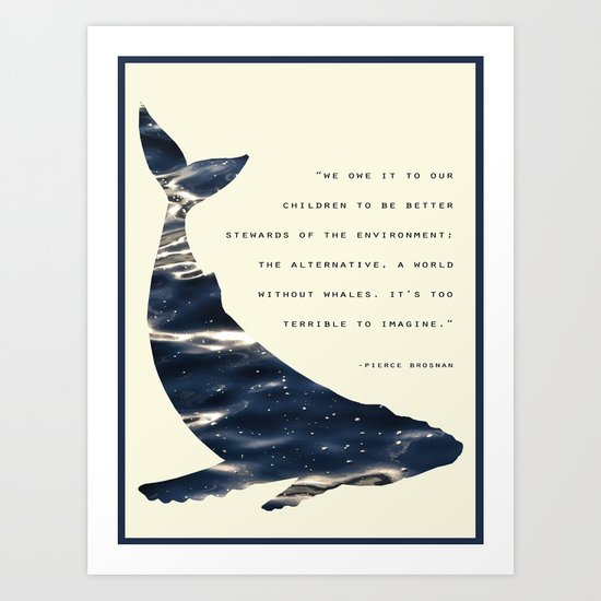 World Without Whales Art Print