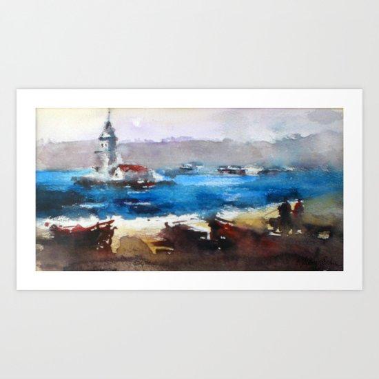 MAIDEN'S TOWER Art Print