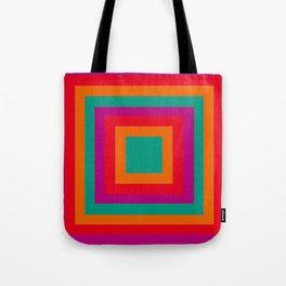 Square red Tote Bag