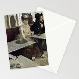 The Absinthe Drinker by Edgar Degas Stationery Cards