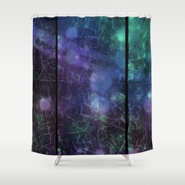 Purple Green And Blue Shower Curtain
