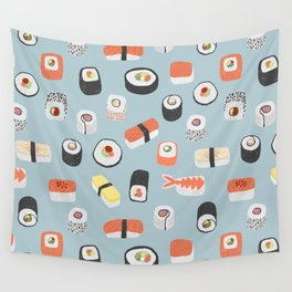 Sushi Roll Maki Nigiri Japanese Food Art Wall Tapestry