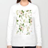 flower pattern Long Sleeve T-shirts featuring Flower Pattern by Jenna Davis Designs