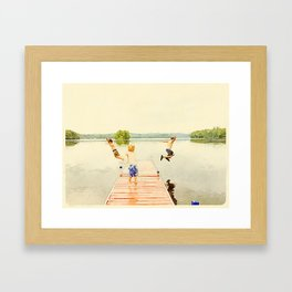 Boys of Summer Framed Art Print