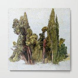 Samuel Palmer Cypresses in Tivoli Metal Print