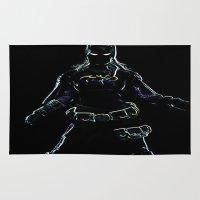 batgirl Area & Throw Rugs featuring batgirl outline by jjb505