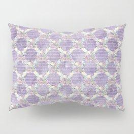 Roses & Forget Me Nots Wreath Purple Pillow Sham