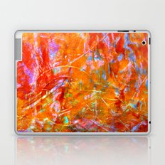 Abstract with Circle in Gold, Red, and Blue Laptop & iPad Skin