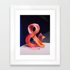 & Ampersand Framed Art Print