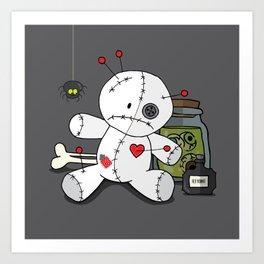 Voodoo doll shelf Art Print