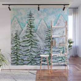 Mountain Scene Wall Mural