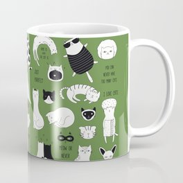 cute cat doodles cats Coffee Mug
