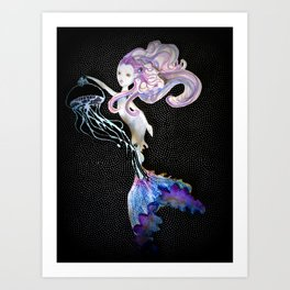 With the light of a jellyfish Art Print