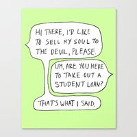 college Canvas Prints featuring college by s t i n g s
