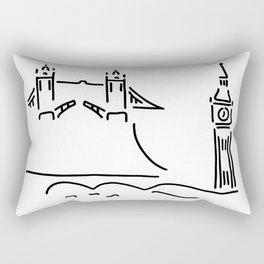 London tower bridge big ben Rectangular Pillow