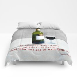 Glass of Wine Comforters