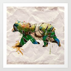Back to Nature: Graffiti Bear Art Print
