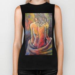 Abstract Art Original Nude Woman Girl Painting ... The Company You Keep Biker Tank