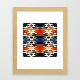 Southwestern Diamonds Framed Art Print