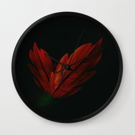 Hojarasca in the darkness Wall Clock