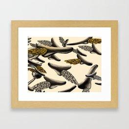 Flying noses Framed Art Print