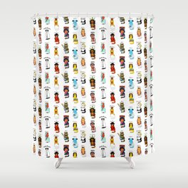 Famous Music Cats – Most Popular Musicians of the World Shower Curtain