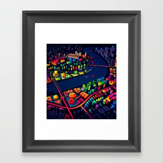 3D City Framed Art Print