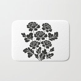 Black roses bouquet Bath Mat