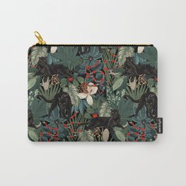 Tropical Black Panther Carry-All Pouch
