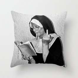 Midle Finger  Throw Pillow