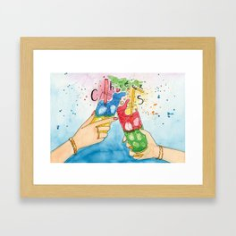Time to Cheer Up! Framed Art Print