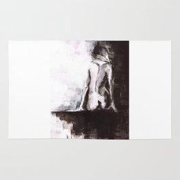 Woman nude Rug