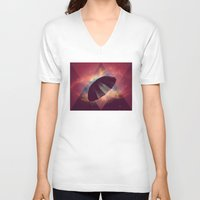umbrella V-neck T-shirts featuring Umbrella by Mr and Mrs Quirynen
